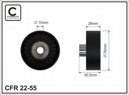 76x10x26 Натяжний ролик Bmw E60 520/525 CAFFARO 2255