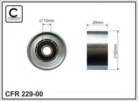 Фото - Ролик (62x12x29 metal) Toyota 1.8D/2.0D CAFFARO - 22900
