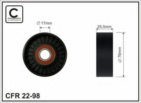 Фото - Паразитный / ведущий ролик, поликлиновой ремень CAFFARO - 2298