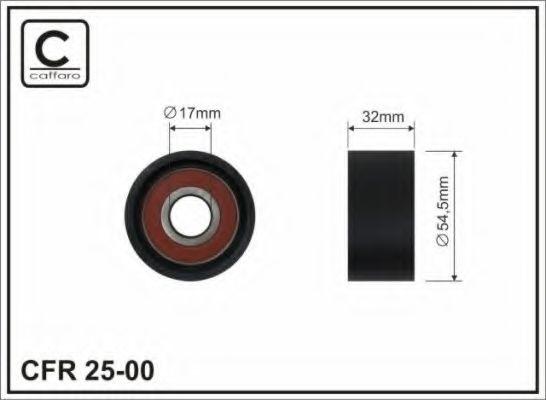 54,5x17x32 Натяжний ролик Renault 1.8/2.0 16V 01- Laguna/Espace/Megane CAFFARO 2500