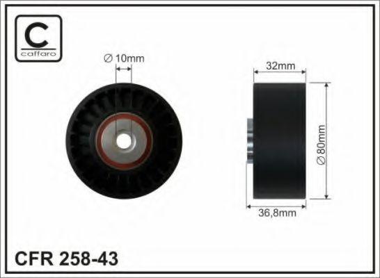 (80x10x32) Натяжной ролик MB E (W124), S (W140) 4.2/5.0i 02.91-02.99 CAFFARO 25843