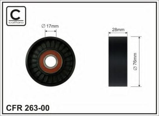 Натяжитель ремня генератора Ролик ремня генератора DAEWOO/CHEVROLET AVEO/NUBIRA/LACETTI DOHC CAFFARO арт. 26300