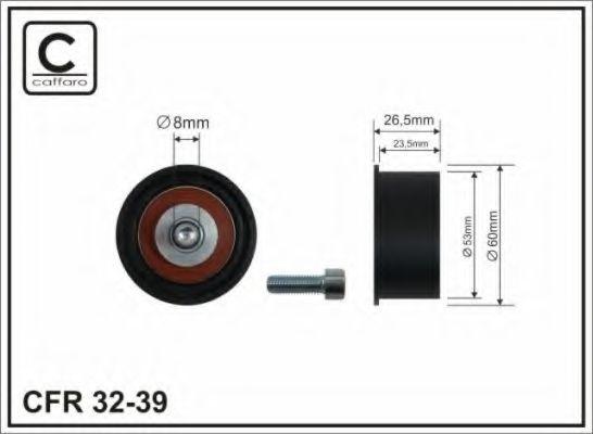 53x8x23,5 Натяжний ролик Opel Astra 1.6 16V 93- CAFFARO 3239