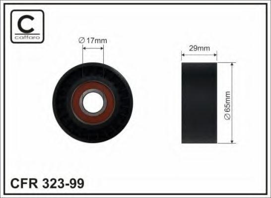 Натяжитель ремня генератора Ролик генератора Renault Trafic 2.0dci (натяжной) (65x29.5x17) CAFFARO арт. 32399