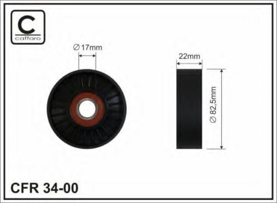 Натяжитель ремня генератора Ролик натяжной ремня приводного OPEL 2,2 ASTRA-G/ZAFIRA-A/VECTRA-C/ZAFIRA-B/FIAT Croma II (194) CAFFARO арт. 3400