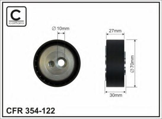 70X10X27.5 Натяжний ролик поліклинового паска PSA Berlingo/Jumpy/Scudo/406/605/Expert/Partnet 1.8D/1.9D/TD/2.0Hdi 1996- CAFFARO 354122