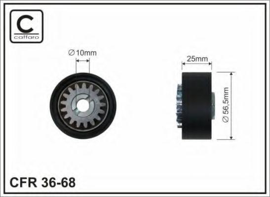 56x10x24 Натяжний ролик паска ГРМ Renault Kangoo 97-/Nissan Kubistar 03- CAFFARO 3668