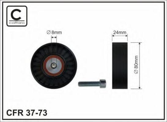 Фото - 80x8x24 Ролик обвідний паска привідного BMW 3/5/7 1.8/2.5 TDS 01.95- CAFFARO - 3773