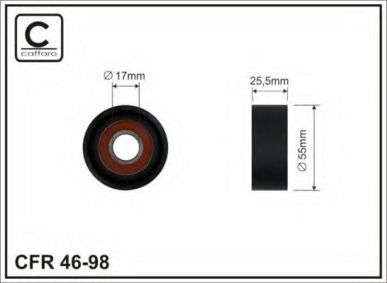 Фото - Ролик ремня генератора паразитный, OM651 2.2CDI (26x54)(A 651 200 07 70) CAFFARO - 4698