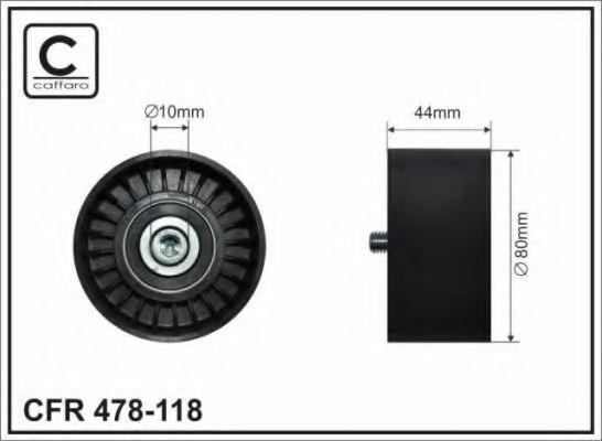 Натяжной ролик, поликлиновой  ремень CAFFARO арт. 478118