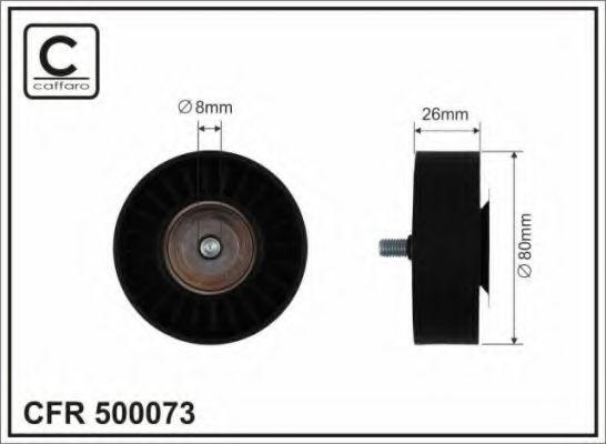80x8x26 Натяжний ролик паска поліклинового Citroen Jumper// Peugeot Boxer 2.5D 03.94-04.02 CAFFARO 500073