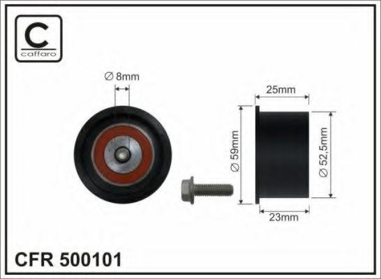 Натяжитель ремня ГРМ rolka 52,5x8x23 plastik CAFFARO арт. 500101