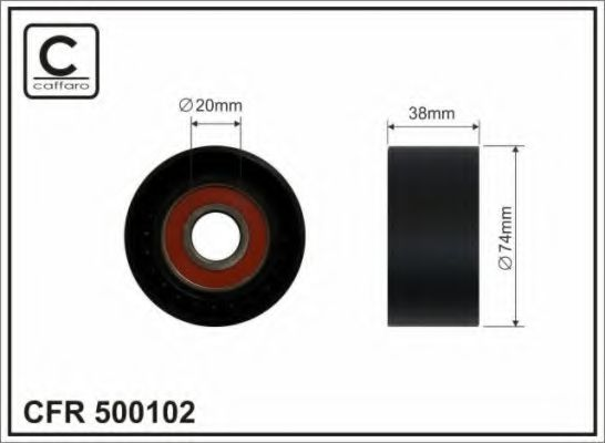 Паразитный / ведущий ролик, поликлиновой ремень CAFFARO арт. 500102