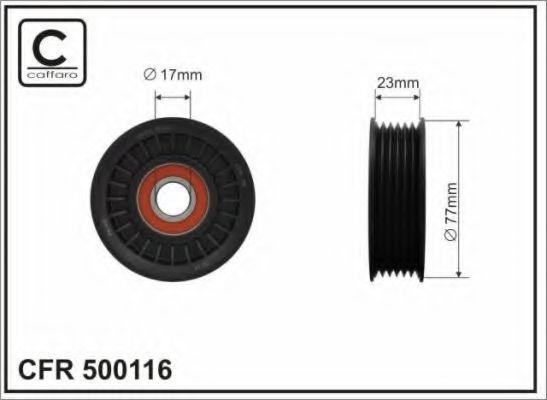 Натяжитель ремня генератора Ролик натяжной ремня приводного  Mitsubishi CAFFARO арт. 500116