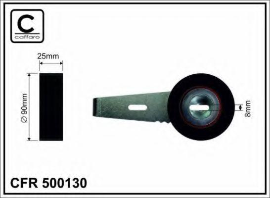 90x8x25 Натяжний ролик Citroen/Fiat/Lancia/Peugeot CAFFARO 500130