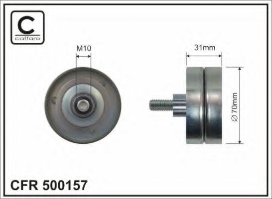 Паразитный / ведущий ролик, поликлиновой ремень CAFFARO арт. 500157
