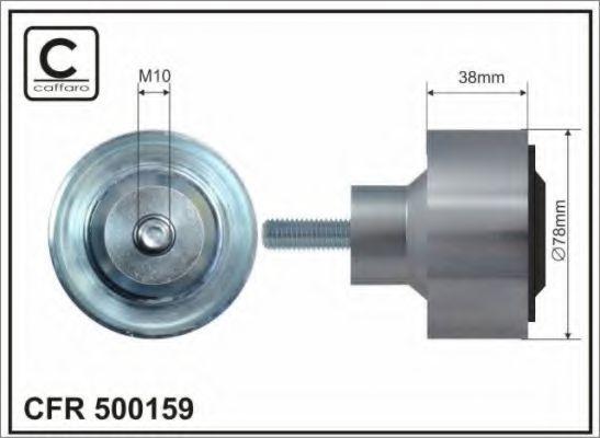 Паразитный / ведущий ролик, поликлиновой ремень CAFFARO арт. 500159