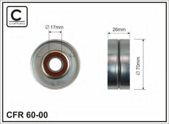 Фото - Натяжной ролик, поликлиновой  ремень CAFFARO - 6000
