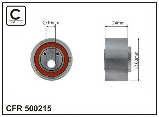 Фото - 60x10x24 metal Натяжний ролік Audi 100/A6 2,5TDI 94- CAFFARO - 500215