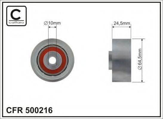 Фото - 64,5x10x24,5 metal Ролик направлячий паса ГРМ Audi 100 2,5TDI 90- CAFFARO - 500216