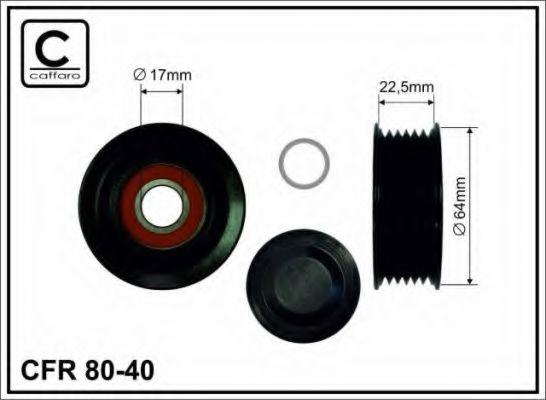 Ролик ремня генератора Ролик натяжной MB Sprinter CDI (ручейковый) CAFFARO арт. 8040
