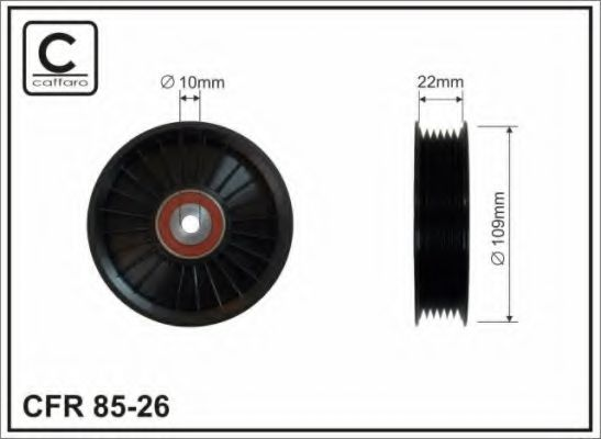 CAFFARO - DB W210,W203,VITO CDI Паразитный / ведущий ролик CAFFARO 8526