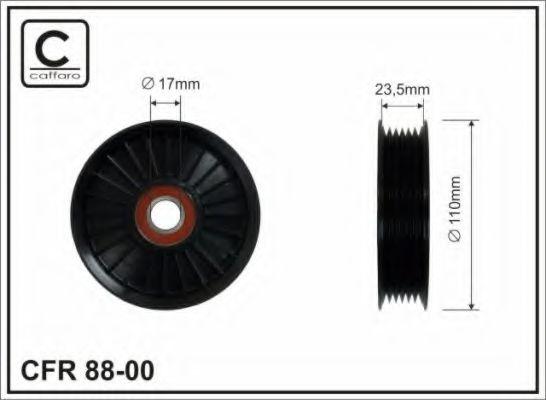 Паразитный / ведущий ролик, поликлиновой ремень CAFFARO арт. 8800
