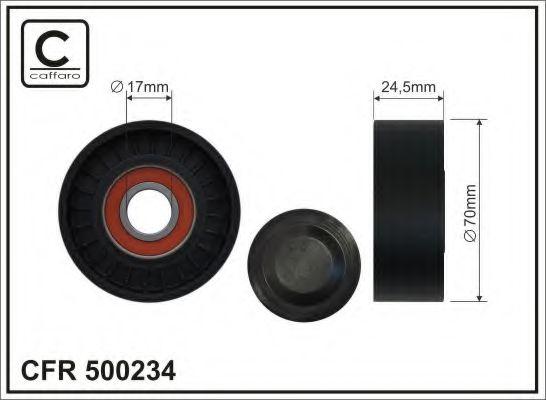 Натяжитель ремня генератора Ролик натяжной ремня приводного MITSUBISHI COLT VI 1.5 DI-D; SMART CAFFARO арт. 500234