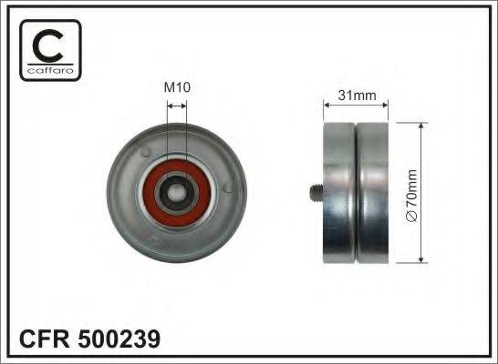 Натяжной ролик, поликлиновой  ремень CAFFARO арт. 500239