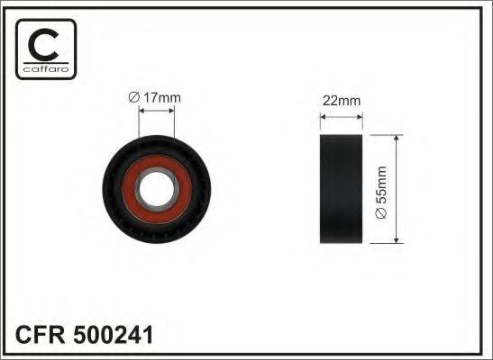 Натяжитель ремня генератора Ролик натяжной ремня приводного TOYOTA VERSO 1.6D 09.06- CAFFARO арт. 500241
