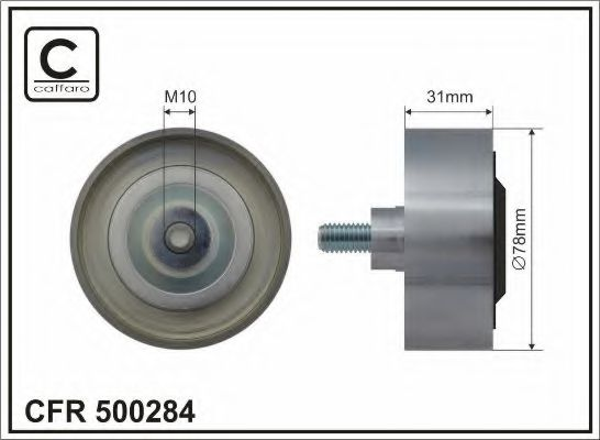 Паразитный / ведущий ролик, поликлиновой ремень CAFFARO арт. 500284