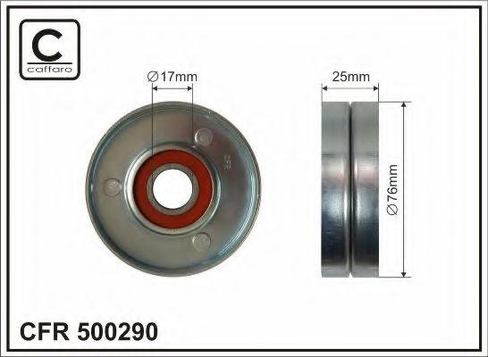 Натяжной ролик, поликлиновой  ремень CAFFARO арт. 500290