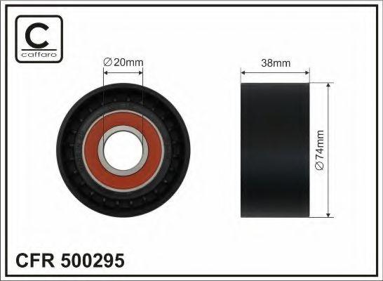 Натяжной ролик, поликлиновой  ремень CAFFARO арт. 500295
