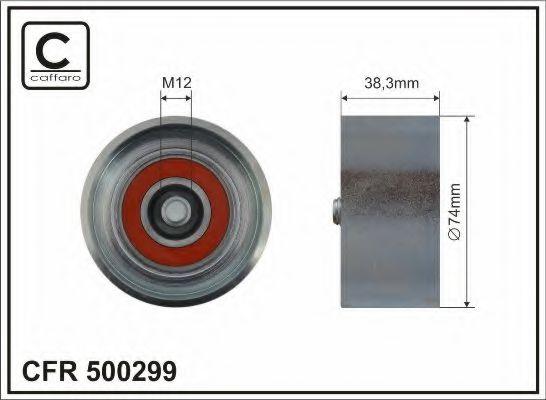 Паразитный / ведущий ролик, поликлиновой ремень CAFFARO арт. 500299