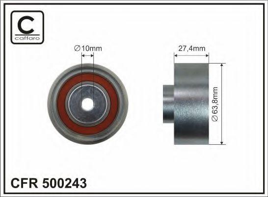 63,8x10x27,4 метал Натяжний ролик паска помпи LT 2,4D 92- CAFFARO 500243