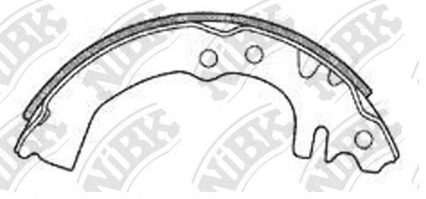 Колодки гальмівні барабанні, комплект NIBK FN0024