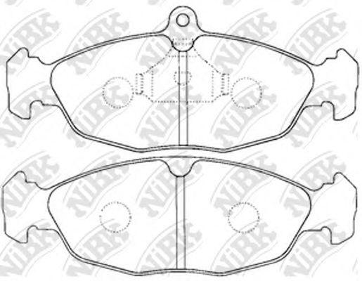 Колодки гальмівні дискові  арт. PN0021