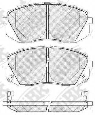 Колодки тормозные (без датчика)  арт. PN0052
