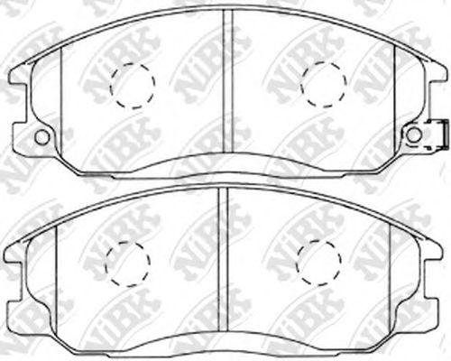 Колодки гальмівні дискові  арт. PN0103