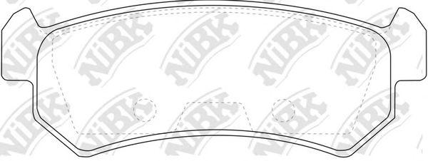 Колодки гальмівні дискові  арт. PN0376