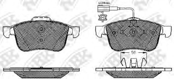 Колодки гальмівні дискові  арт. PN0382W