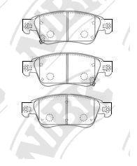 Передние тормозные колодки PN0388 NIBK PN0388