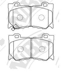 Передние тормозные колодки PN0389 NIBK PN0389
