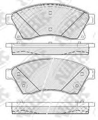 Колодки гальмівні дискові  арт. PN0391