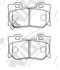 Задние тормозные колодки PN0396 NIBK PN0396
