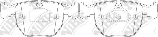 Колодки тормозные  арт. PN0401