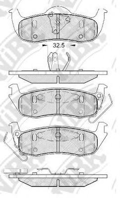 Задние тормозные колодки PN0429 NIBK PN0429