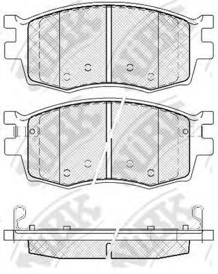 Колодки гальмівні дискові  арт. PN0435