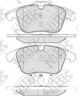 Колодки гальмівні дискові передні, комплект NIBK PN0462