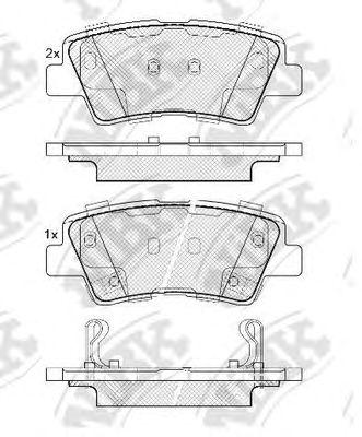 Колодки тормозные (без датчика)  арт. PN0538